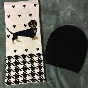 Dachshund Scarf and Hat